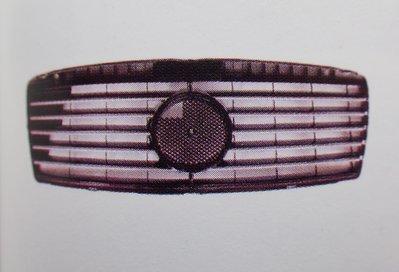 泰山美研社18123116 BENZ 賓士 W210 95-99年 跑車款 11線大星 無框 鍍鉻黑 水箱罩