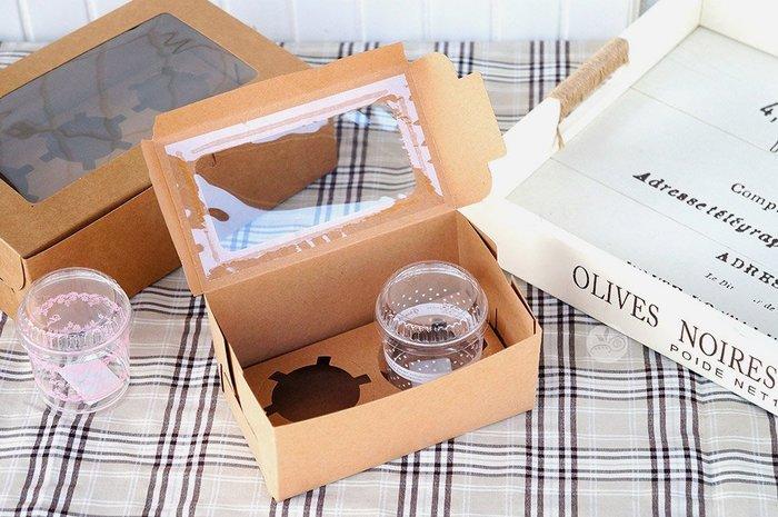 紙盒_開窗瑪芬盒(牛皮)附2洞內襯_10入/組_C-G02-H◎紙盒.開窗盒.包裝盒.牛皮盒.附內襯.兩入裝