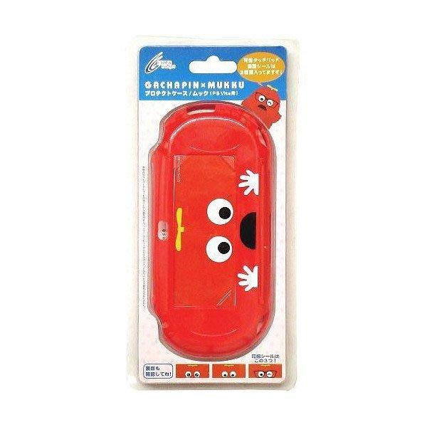 現貨中PSV1000型專用 日本CYBER GACHAPIN x MUKKU PC保護殼 紅色款【板橋魔力】