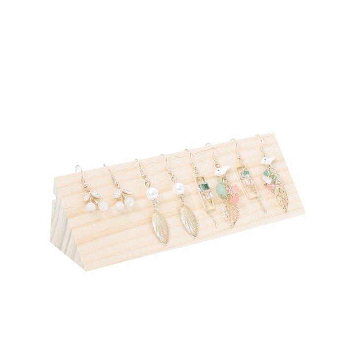 聚吉小屋 #貝衡歐式三角耳環家原木質耳環耳線展示臺首飾展示架珠寶展示道具