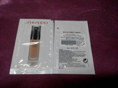 SHISEIDO 資生堂 時尚色繪尚質長效精華粉蜜 SPF20 1ml 色號:Golden 2跟色號Neutral 3 (現貨30+3包)