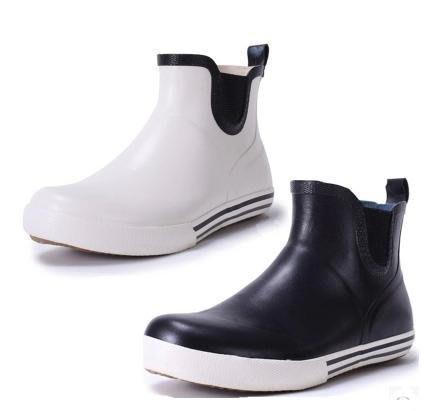 【易發生活館】新品出口日韓外貿原單尾貨 天然橡膠短筒男女情侶款雨鞋雨靴水鞋套鞋 女款雨鞋雨靴 戶外雨鞋中筒靴