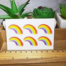 【萌古屋】迷彩臉部彩虹 - 防水紋身貼刺青貼紙ZR05 K12
