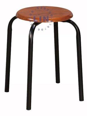【品特優家具倉儲】584-14餐椅火鍋店用椅鐵管椅胡桃