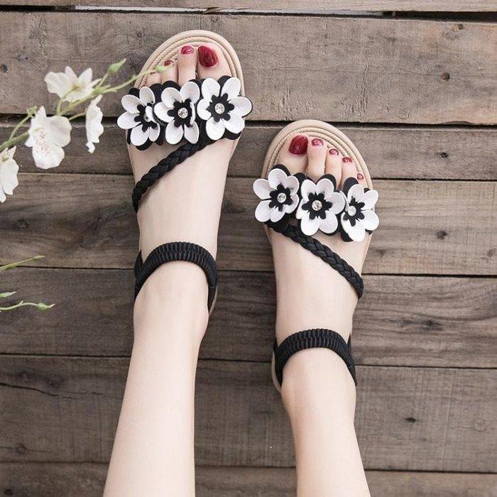 雨晴嚴選 涼鞋 仙女風涼鞋女學生百搭潮新款夏季潮新款女鞋百搭沙灘鞋平YQ565