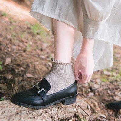 花邊襪子女中筒襪韓版學院風百搭韓國日系可愛復古夏季女生短襪薄