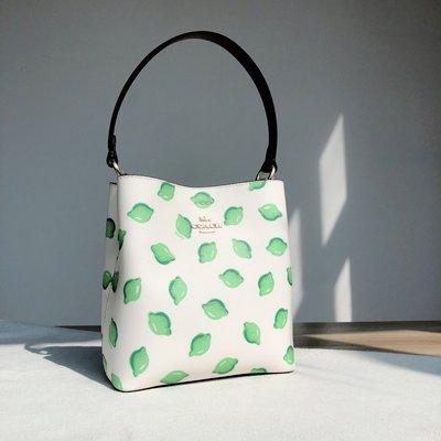 coach 1625 新款 檸檬圖案  女士Charlie bucket水桶包 手提包 單肩斜挎包