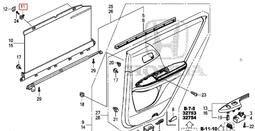 冠勝車材 本田/ACCORD 2013/7- 車門玻璃窗簾扣