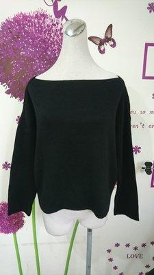 iROO 黑色喀什米爾上衣/羊毛衣(108)