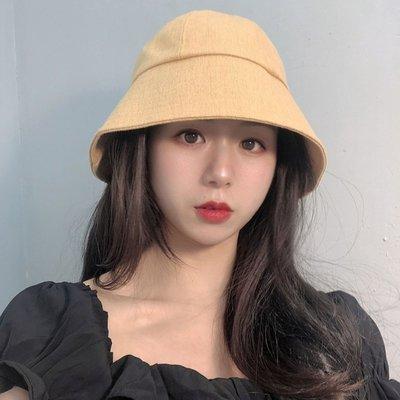 漁夫帽 盆帽-純色大帽簷薄款夏季女帽子5色73xu26[獨家進口][米蘭精品]