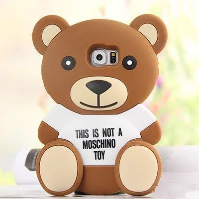 ↪現貨↩? 三星J7超萌可愛泰迪熊軟矽膠手機殼手機套保護殼/軟殼 附掛繩