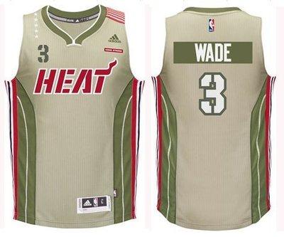 全新真品 Adidas Swingman 邁阿密熱火 Wade 軍人節限定 黃金S號