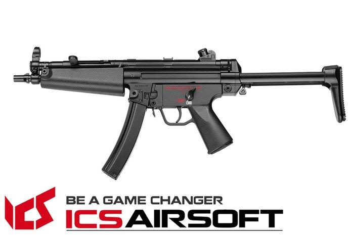 【翔準軍品AOG】ICS CES A5(黑)伸縮托 MP5 衝鋒槍 電動槍 全金屬 生存遊戲 ICS-04