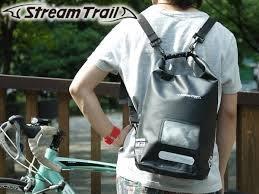 日本Stream Trail 戶外防水包新版方桶包Dry Cube 10L 瑪瑙黑Onyx後背包(下雨登山騎車必備)
