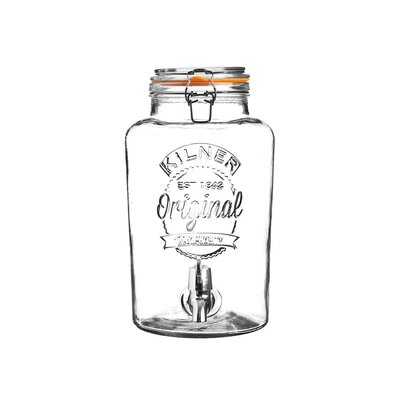 【英國 Kilner】經典款玻璃飲水器 5L 玻璃飲料桶 派對野餐飲料桶 玻璃桶附水龍頭開關 密封玻璃罐 玻璃密封罐