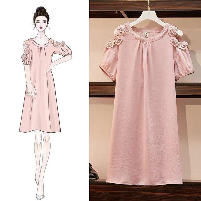 貓姐的團購中心~有大尺碼~188AC 輕柔甜美露肩連身裙~XL-5XL一件480元~預購款