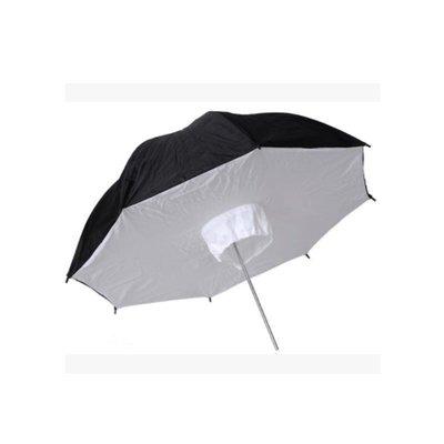 【EC數位】棚燈 閃光燈 專用 33吋 快收箱式 外黑內白 柔光傘 透射傘 反射傘 傘式柔光箱