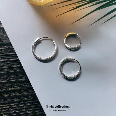直徑20MM平面圈圈925純銀耳環(一對/歐美/圓圈/GD/圓形/大圓)(T-ER222)(現貨)【Ewin 創物】