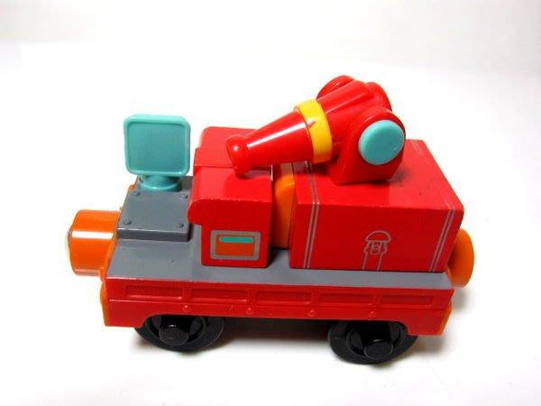 愛卡的玩具屋㊣ 正版CHUGGINGTON 恰恰特快車 火車寶寶@ 磁性 原木小火車頭 @-Calley的消防車