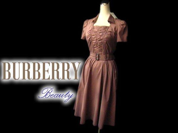 *Beauty*BURBERRY豆沙紫公主袖洋裝 38號 WE14
