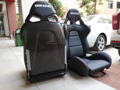 KarMa車藝 類BRIDE CUGA 惡魔椅 PVC皮革/紅色縫線/黑碳纖維椅背 可調賽車椅 (含快傾)