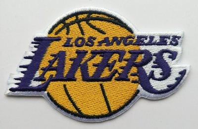 世界杯YYDS~NBA洛杉磯湖人隊徽Lakers籃球刺繡補丁貼電腦繡布貼背膠LOGO臂章