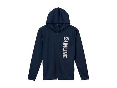 《三富釣具》SUNLINE 速乾帽T外套 SUW-15028DPK 黑/藍  L號/LL號/3L號  歡迎詢問