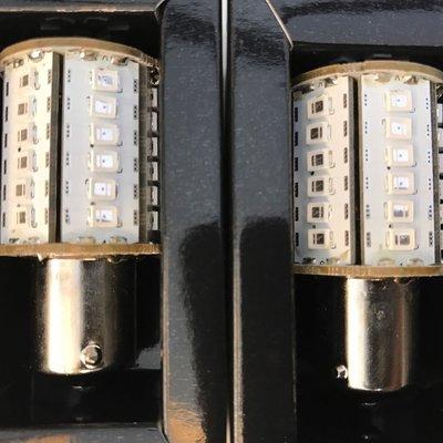 小傑車燈*全新超亮紅色晶片解碼LED煞車燈泡 晶體 W124 W210 W211