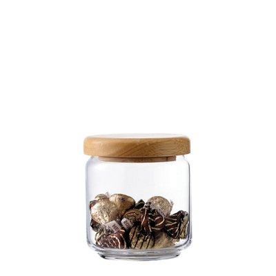 ☘小宅私物☘ Ocean 木蓋儲物罐 500ml 收納罐 密封罐 玻璃罐 咖啡罐 保鮮罐 現貨附發票