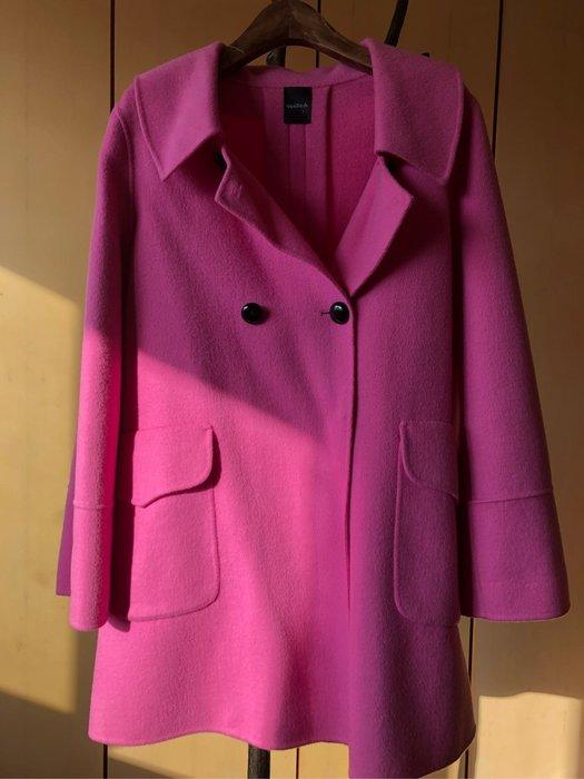 (出清)專櫃品牌100%羊毛雙面羊毛手工大衣外套