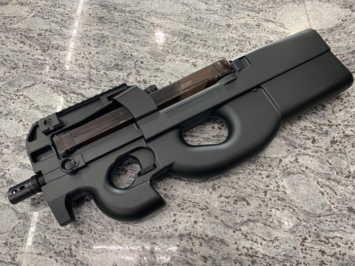JHS((金和勝 生存遊戲專賣))WELL P90 付電池 電動槍 6614