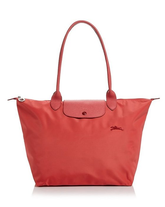 Coco小舖 Longchamp Le Pliage Club Large Shoulder Tote 大款橘色