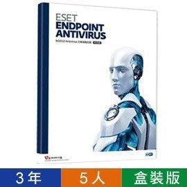 ESET Endpoint Antivirus 5 企業版含中央控管-三年5組用戶授權盒裝版
