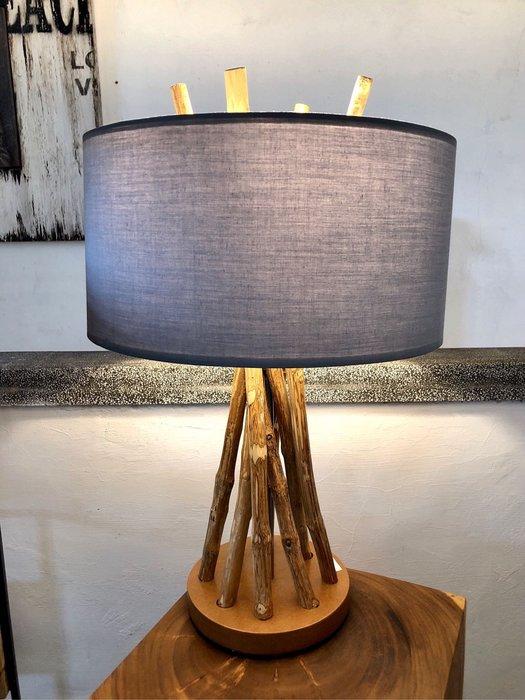 柚木桌燈夜燈 (LW18.5 H56 燈罩LW35 cm)