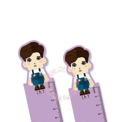 EXO 張藝興 Q版造型直尺 造型尺 15公分 E568-F 【玩之內】(一支) 韓國 LAY
