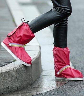 BELOCO 雨鞋套-時尚大人兒童防雪防雨鞋套中筒防水防BE655