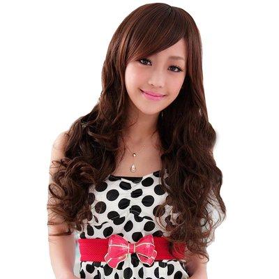 我和我的十七歲 謝欣穎代言 甜美浪漫長捲髮【736A】高仿真超自然整頂假髮☆雙兒網☆
