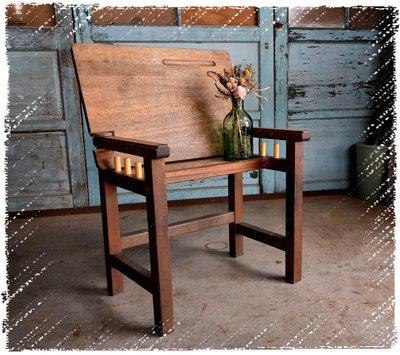 ^_^ 多 桑 台 灣 老 物 私 藏 ----- 園藝空間好幫手的國小退役課桌