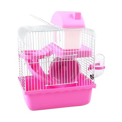 倉鼠籠 寵物籠 倉鼠窩 兔子籠雙層小城堡倉鼠籠子用品套裝金絲熊窩別墅雙層可拆洗