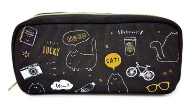 Crux 日本版 黑色貓仔 筆袋 (包平郵或本地郵局自取)