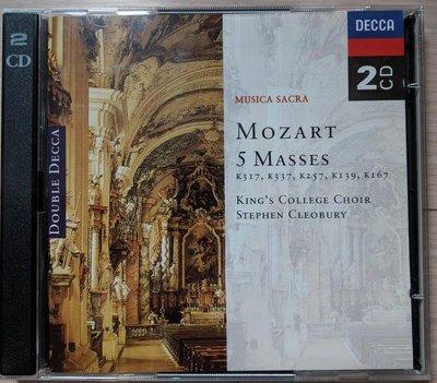 [古典CD] Mozart: 5 Masses: K317, K337, K257, K139, K167