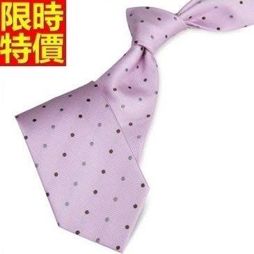 領帶 桑蠶絲男配件-圓點時尚休閒手打領帶66ae40[獨家進口][米蘭精品]