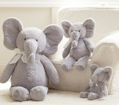 美國嬰幼兒精品 Pottery Barn Baby 全品項代購 可愛大象寶寶 Elephant Plush 小款 生日禮