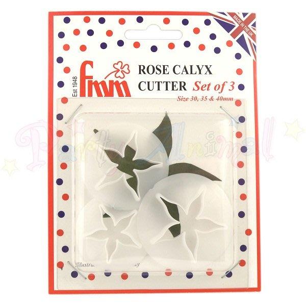 *愛焙烘焙* FMM 英國 玫瑰花萼切割器 3入 翻糖蛋糕工具模具 糖花壓模切模 蛋糕裝飾 黏土 翻糖工具