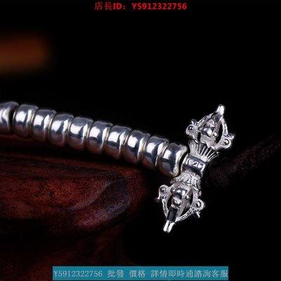 誠心公德促銷新款念珠計數器純銀925銀鈴杵念珠念佛計數器 佛珠手鏈配飾 加厚款
