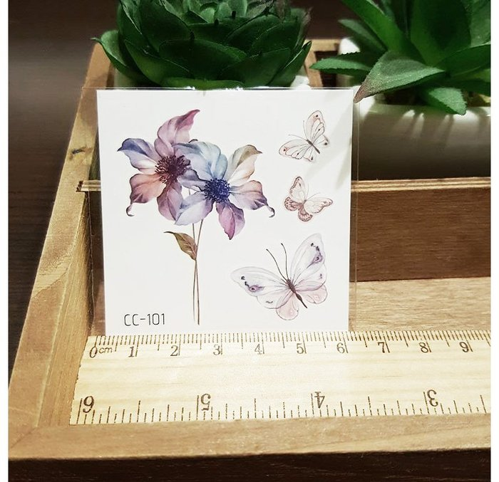 【萌古屋】花朵單圖CC-101 - 防水紋身貼紙刺青貼紙K38