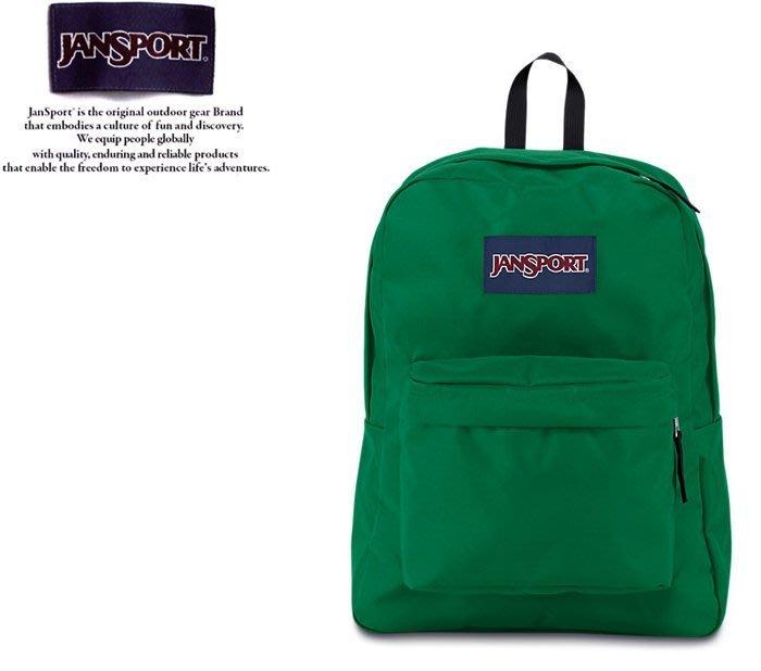 【DREAM包包館】JANSPORT 美國品牌 後背包 SUPER BREAK JS-43501 亞馬遜綠