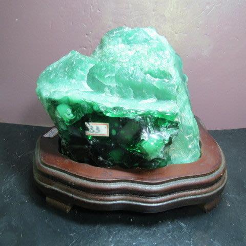 【競標網】天然罕見漂亮蘇聯綠寶翡翠原礦3.57公斤(贈座)(網路特價品、原價4500元)限量一件
