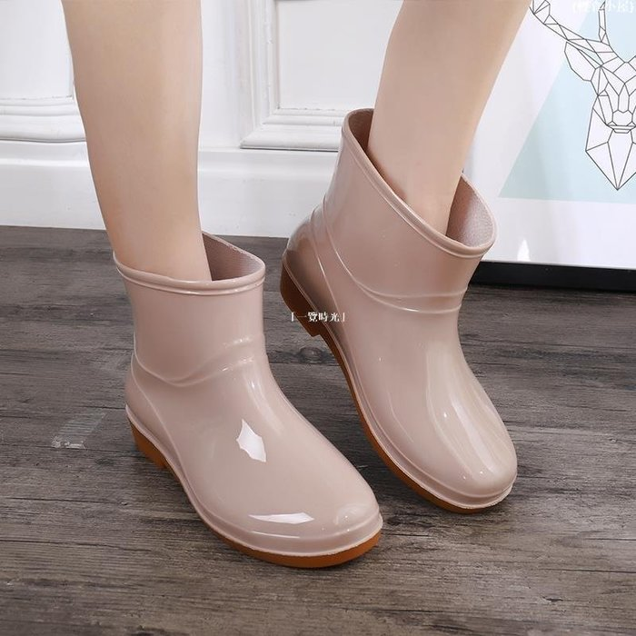 {輕食小屋} 慕格森雨鞋女大人水鞋防水防雨高低幫長短筒雨靴加厚經典防滑耐磨G3L62