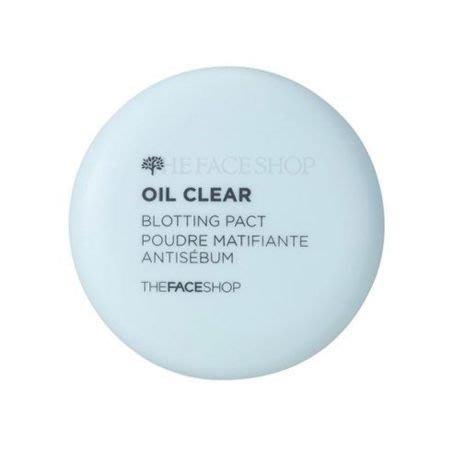 ☆愛寶韓國空運☆THE FACE SHOP OIL CLEAR BLOTTING PACT 控油吸油粉餅【免稅店代購】